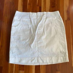 Denver Hayes White Cotton Mini w Built In Shorts